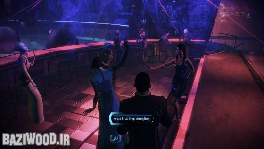 شپرد و اشلی در حال رقص و خوش گذرانی! مربوط به DLC جدید Mass Effect 3 با نام Citadel