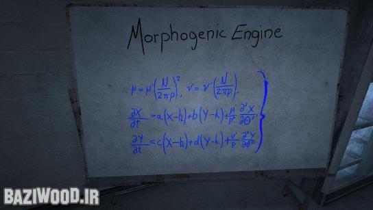 فرمول ریاضی که روی وایت برد نوشته شده است. در مدرسه این فرمول را خوانده ایم!
