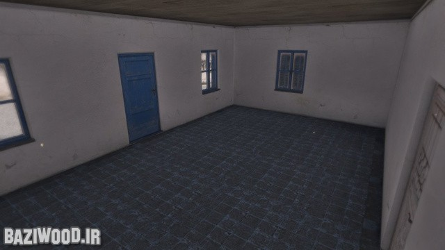 یک محیط داخلی در بازی Arma III که خالیه از هرگونه اثاثیه ای است!