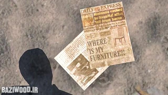تیتر یک روزنامه ای در بازی که نوشته اثاثیه خانهی من کجاست؟!