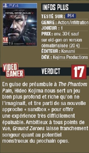 VideoGamer verdict on the PS4 version of MGS: Ground Zeroes