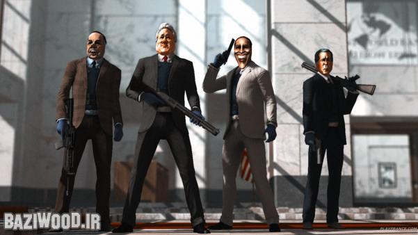 4 نفری با ماسک های عجیب و غریب  به صورت آنلاین بانک بزنید!