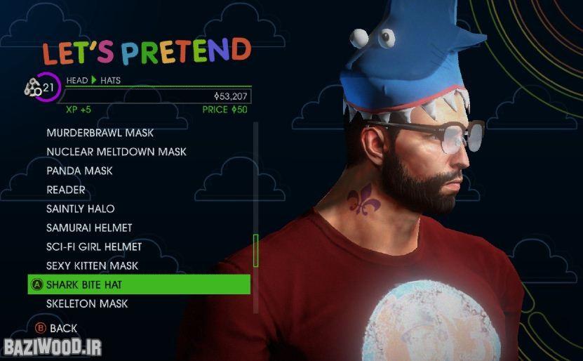 بخش شخصی سازی مفصلی برای بازی تدارک دیده شده است